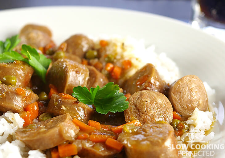 Slow Cooker Sausage Casserole with Gravy