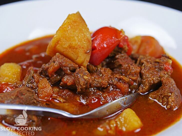 Beef Goulash cooked in the Slow Cooker
