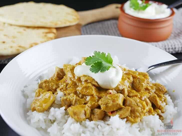slow cook chicken curry and rice
