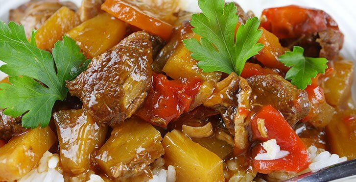 Slow Cooker Sweet and Sour Pork Thickened