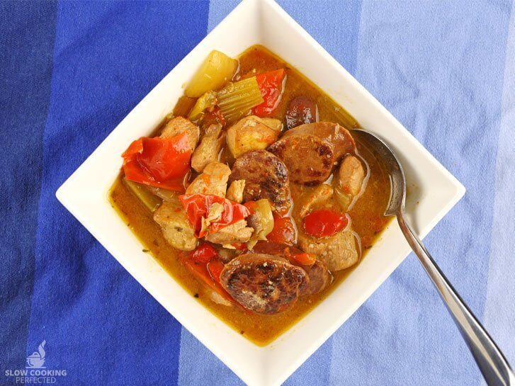 Slow Cooked Gumbo with Chorizo Sausage and Chicken