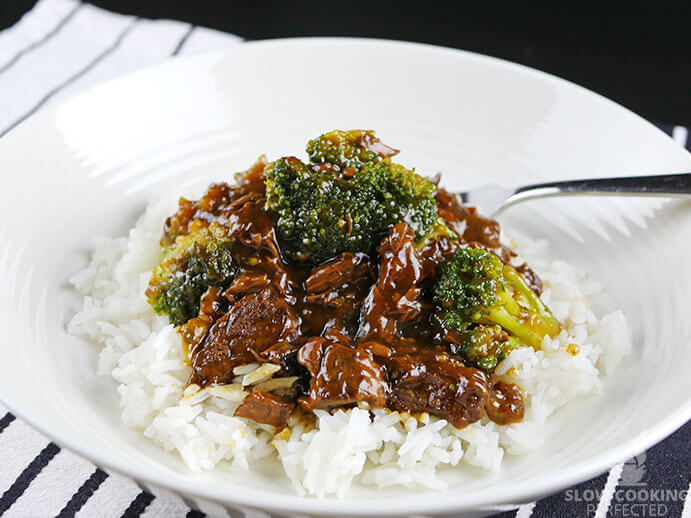 American Chinese Beef and Broccoli with Rice