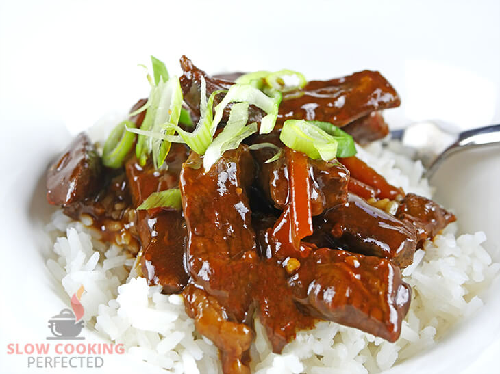 Slow-Cooked Mongolian Beef with Steamed Rice