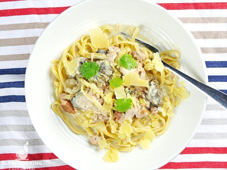 Creamy Chicken Carbonarra