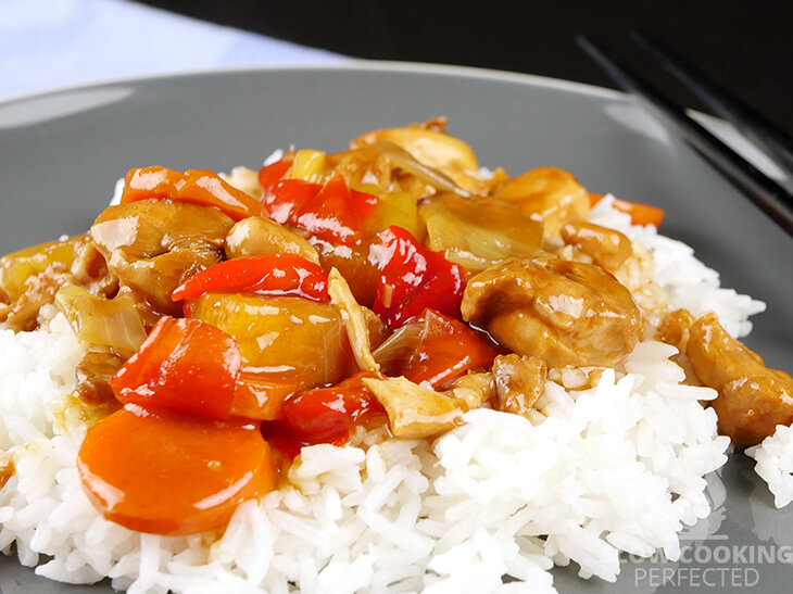Sweet and Sour Chicken cooked in a Slow Cooker