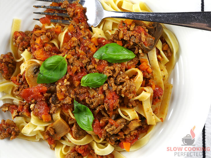 Slow-Cooked Bolognese Sauce with Pasta