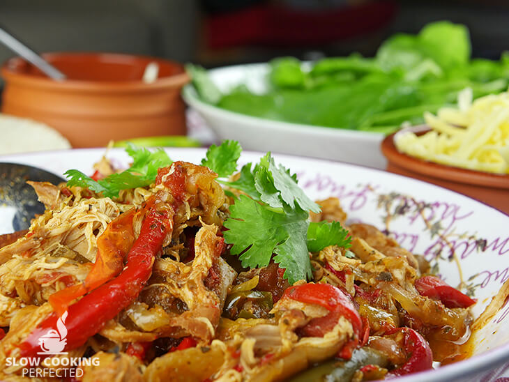 Chicken Fajitas cooked in a Slow Cooker