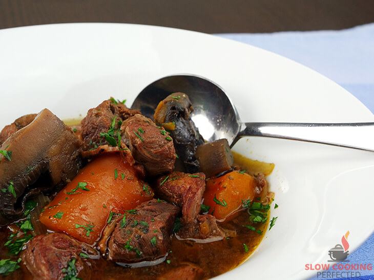 Slow Cooker Beef Burgundy in a bowl
