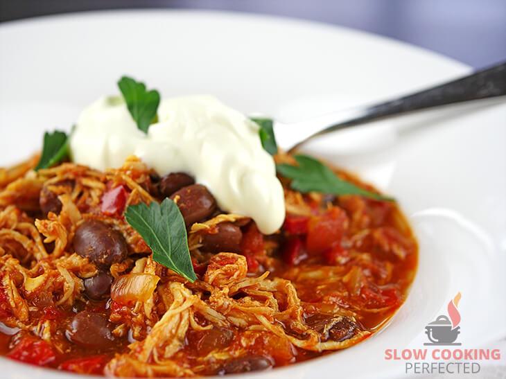 Slow Cooker Tomato Chicken Chili