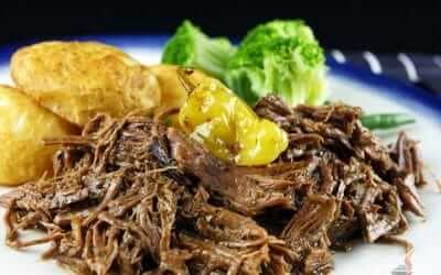 Super Easy Slow Cooker Mississippi Roast