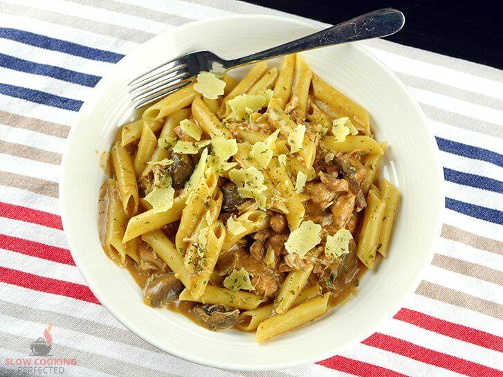 Chicken Stroganoff with Pasta