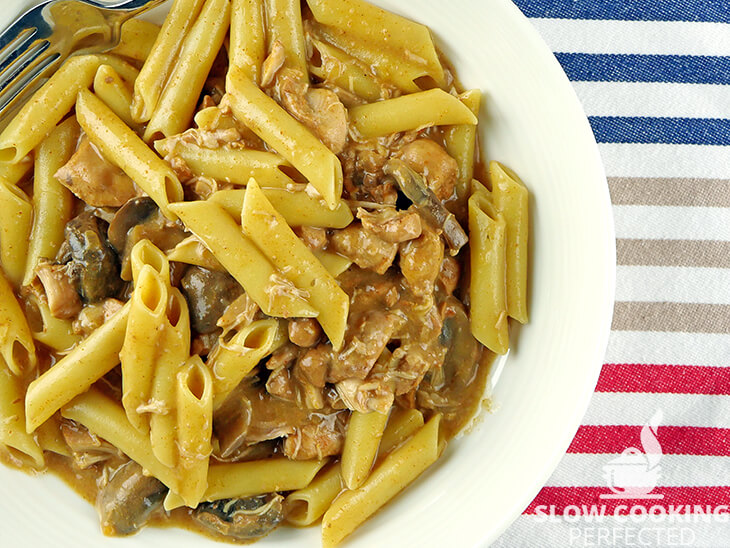 Slow Cooker Chicken and Mushroom Stroganoff with no soup