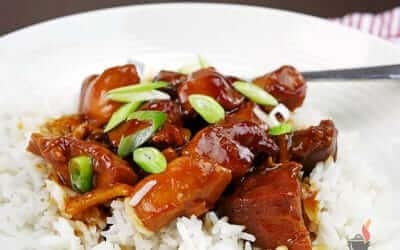 Sweet & Sticky Slow Cooker Orange Chicken