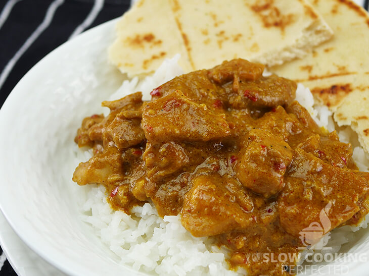 Slow Cooker Chicken Curry made with Peanut Butter