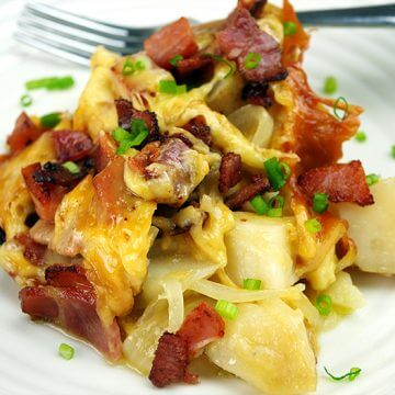 Cheesy Potatoes and Bacon