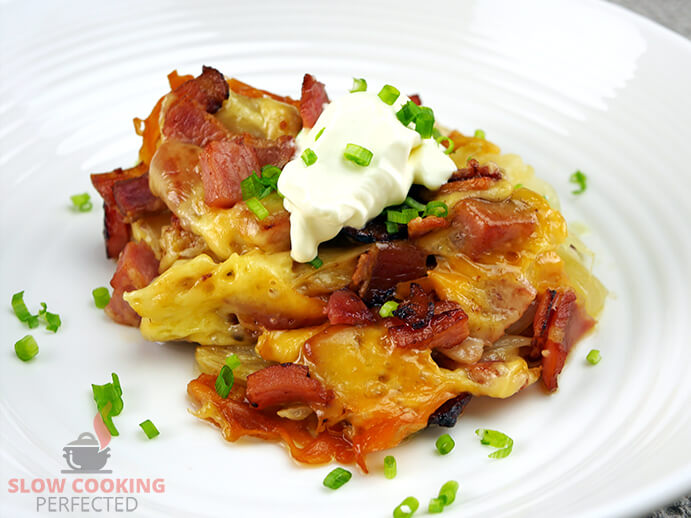 Cheesy Potatoes with Bacon and Sour Cream