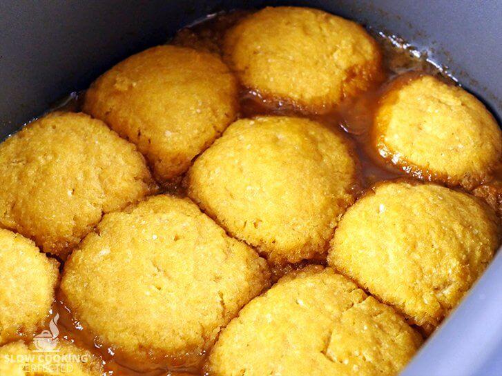 Golden Syrup Dumplings in the slow cooker