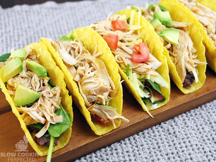 3 Ingredient Shredded Chicken in Tacos