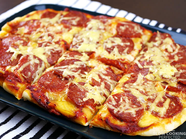 Pizza Cooked in a Slow Cooker