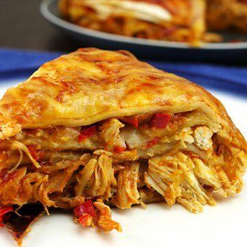 Slow Cooker Chicken Enchiladas