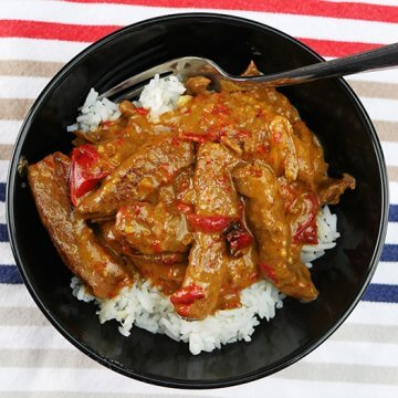 Slow Cooker Satay Beef