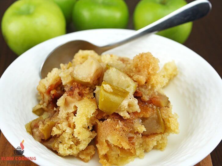 Apple Cobbler made in the Slow Cooker