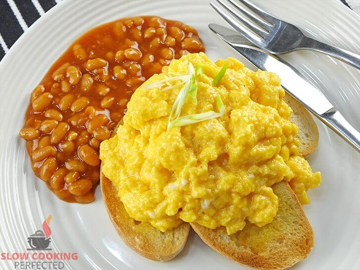 Slow Cooker Scrambled Eggs