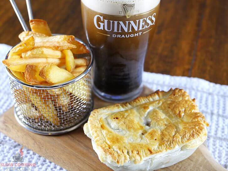 Slow-Cooked Steak and Guinness Pie