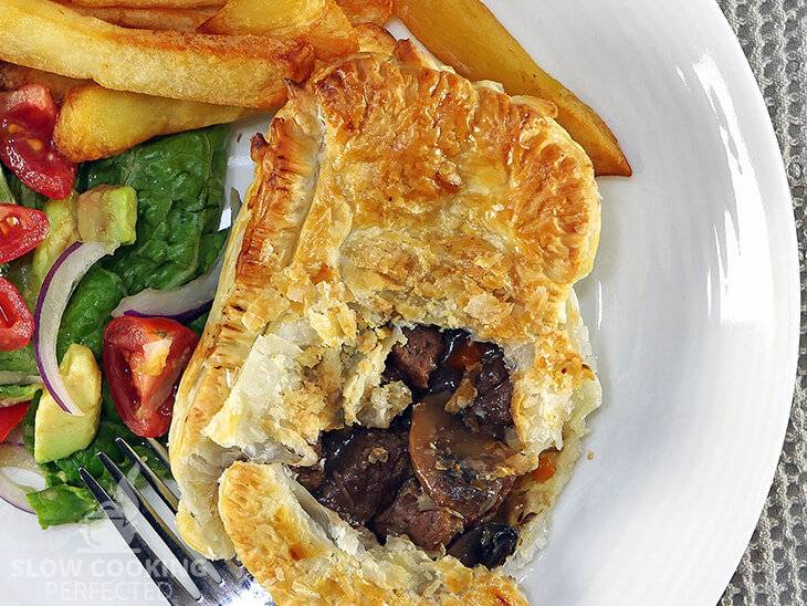 Puff Pastry Beef and Mushroom pie