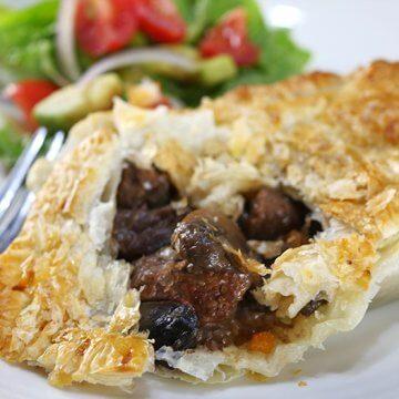 Slow Cooker Beef and Mushroom Pie