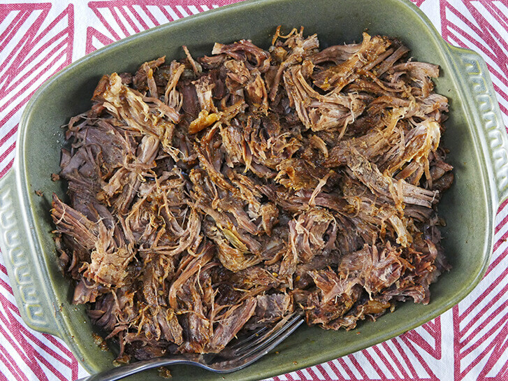 Pulled Beef using chuck roast or brisket