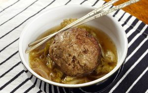 Slow Cooker Lion's Head Meatballs