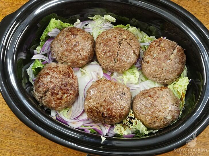 Slow Cooker Lion's Head Meatballs Uncooked
