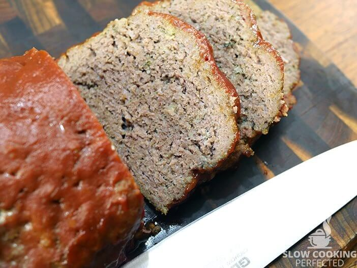 Slow Cooker Meatloaf with Ketchup and Mustard Sauce