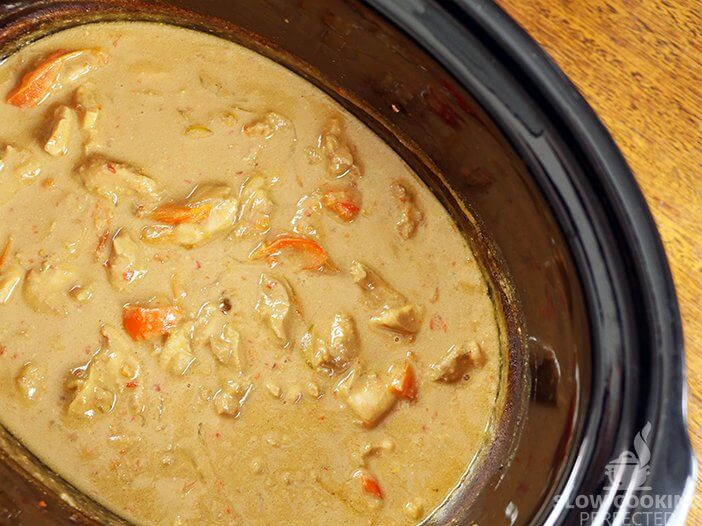 Satay Chicken in the Slow Cooker