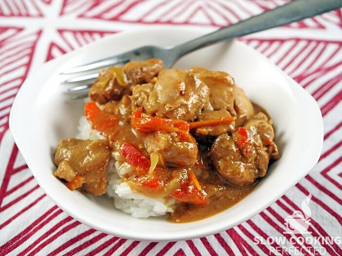 Satay Chicken with Rice