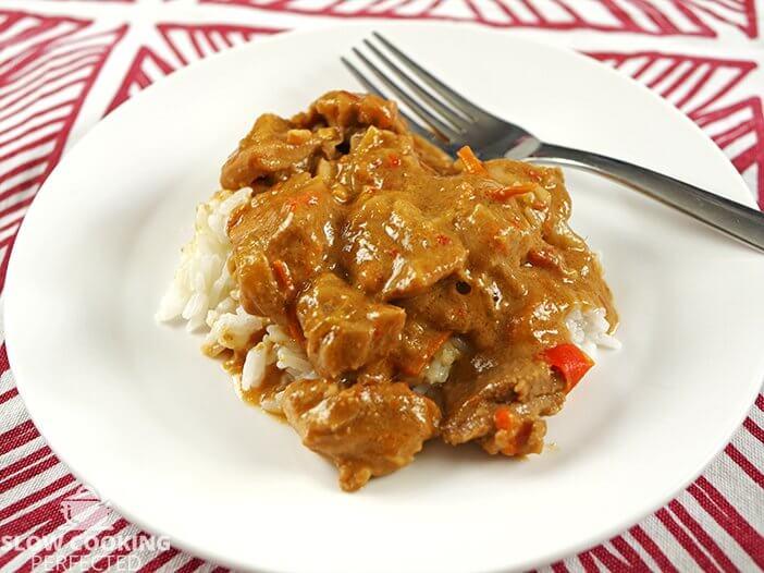 Slow Cooker Satay Chicken