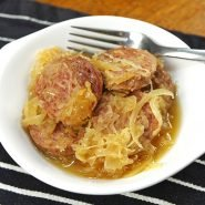 Slow Cooker Sausage and Sauerkraut