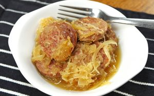 Slow Cooker Sausage and Sauerkraut