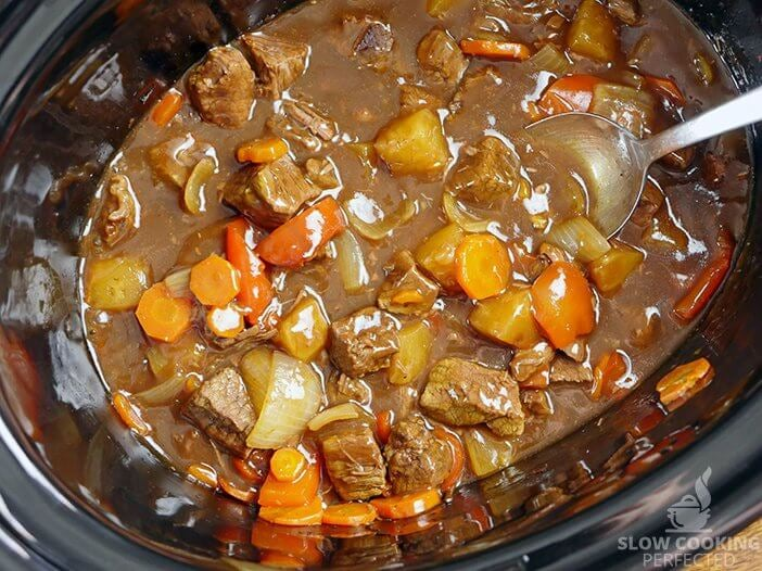Sweet and Sour Beef in the Slow Cooker