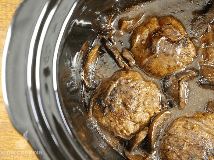 Salisbury Steak in the Slow Cooker