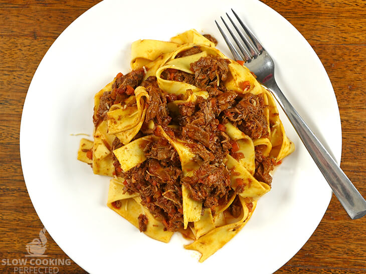 Slow-Cooked Beef Ragu with Pappardelle Pasta