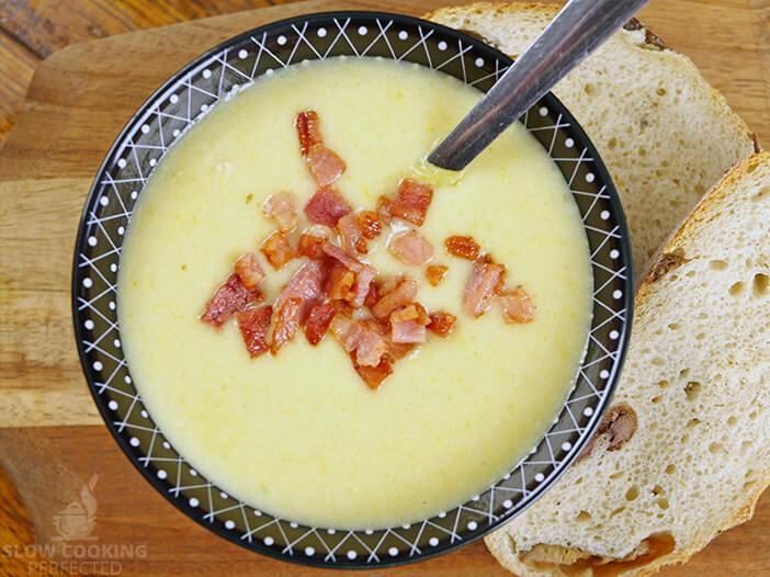 Potato Soup with Olive Bread