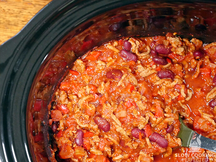 Turkey Chili in a Slow Cooker