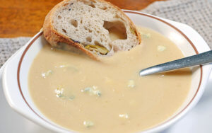 Slow Cooker Parsnip and Blue Cheese Soup
