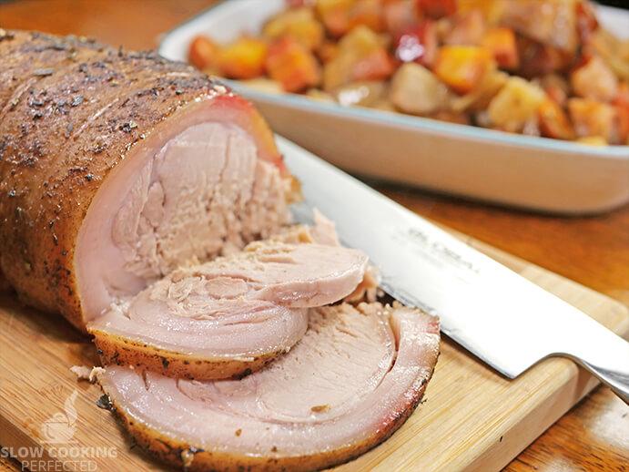 Slow Cooker Pork Roast Sliced