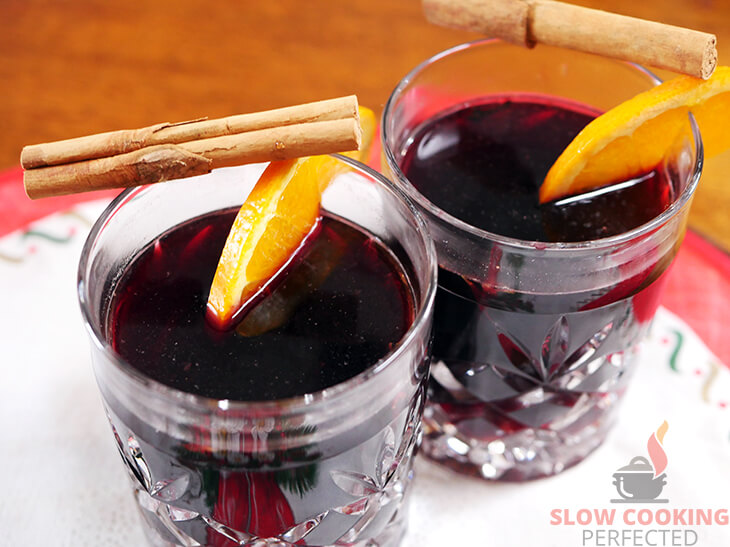 Spiced Wine with Orange and Cinnamon