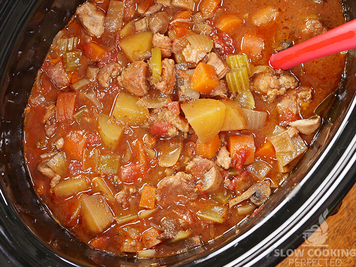 Pork Stew in the Slow Cooker