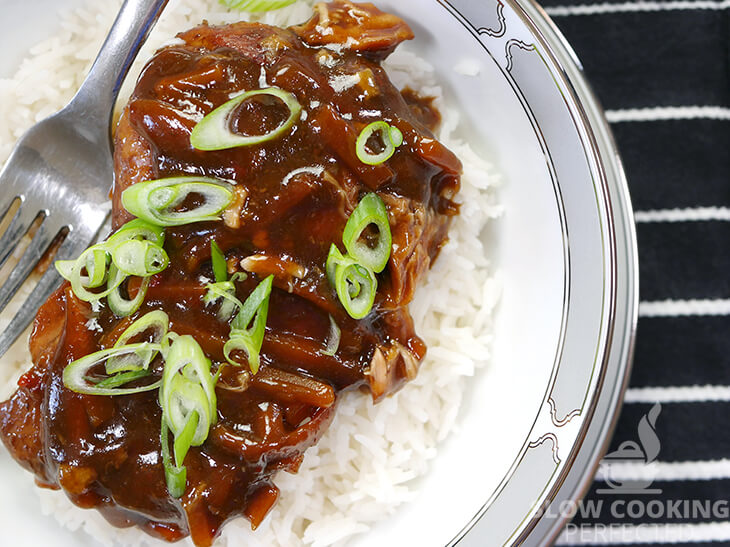 Mongolian Chicken with Rice