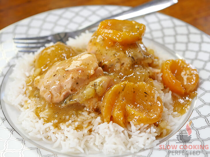Slow-Cooked Apricot Chicken with Rice